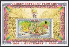 Jersey postfris 2002 MNH block 33 - Bloemen / Flowers (S0432)