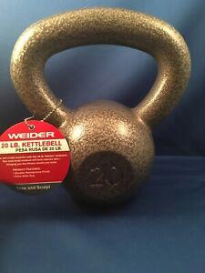 Weider 20 lb Pound Kettlebell Cast Iron Single Weight Brand New