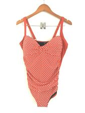 Serra red one piece swimsuit, NEW, ruched front, size 16