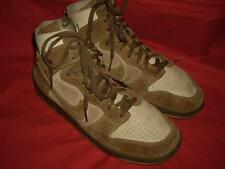 RARE! Vintage NIKE Brown Suede Leather Hi Tops Fashion Sneakers US Size 11.5