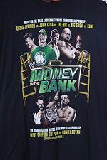 WWE Wrestling MONEY IN THE BANK 2012 MITB T-Shirt Size XL Jericho Cena The Miz