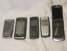 5  Cell phone parts lot cellular LG-VX11000 Motorola Nokia 1112TracFone Sprint
