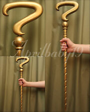 RIDDLER CANE GOLD color SPIRAL Question Mark Costume Prop Cosplay Comic Con