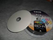 BLU-RAY BD-R 25 GB - 4X SPEED -  PRINTABLE DISC - RITEK - QUANTITY 2 DISC'S ONLY