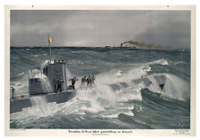 Affiche de guerre (U bateau) - NOUVEAUTÉ Aimant de réfrigérateur - Tout Nouveau
