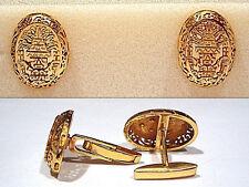 Peruvian Design Cufflinks Solid 18K Yellow Gold