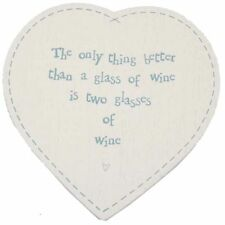 EAST of India CUORE Coaster 2 bicchieri di vino-idea regalo per le donne calza Filler