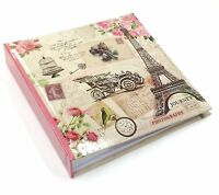 "Pink Vintage Large 6"" x 4'' 200 Photos Slipin Photo Album with Memo Area - FL200"