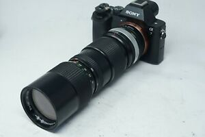SONY E MOUNT ADAPTED 85-205MM F/3.8 VIVITAR ZOOM LENS ALL A7 NEX,A6000