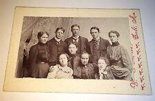 Antique Victorian American Big Group Fashion Portrait Salt, Missouri CDV Photo!