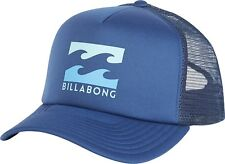 BILLABONG MENS BASEBALL CAP.NEW PODIUM MESH TRUCKER BLUE CURVED PEAK HAT 8S 1584