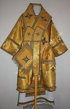 Orthodox Bishop vestments Greek metallic brocade gold black or any color