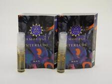 2 x Amouage INTERLUDE MAN EDP Eau de Parfum 2ml Vial Spray New With Card