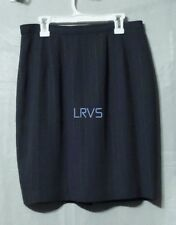 Womens Larry Levine Suits Lined Slate Blue Polyester Knit Skirt Size 10 VGC