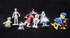 Vintage Marx Miniature Plastic Figurines Disney Lot 8 Donald Alice Disneykins