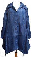 FRANSTYLE Quirky Asymmetric Hem Shower Jacket Mac Blue SIZES 16 & 18