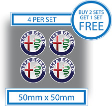 4 x Alfa Romeo Stickers Logo Decals 50mm Vinyl Car Motorbike Badges Waterproof