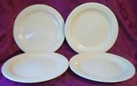 """Lot of 4 Home Trends - HTS16 (Yellow) - 10 3/4"""" Dinner Plates"""