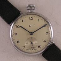 Military WW2 Years Gent's Hi Grade LIP French Wrist Watch Perfect Fully Serviced