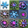 Blue Ice Snow Woods Fidget hand spinner EDC Stocking Stuffer Focus Metal GyroToy