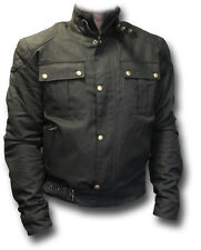 GTH MAGNETO MK.2 CANVAS MOTORCYCLE JACKET WITH ARMOUR [72402] Cafe Racer,