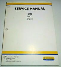New Holland S4Q & S4Q2 Engine Service Repair Manual (fits Boomer 40/50 Tractors)