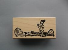 100 PROOF PRESS RUBBER STAMPS NATIVE PADDLES CANOE NEW wood STAMP