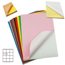 A4 Glossy Matte Self Adhesive Color Paper Label Laser Inkjet Print Cut Tags Lot