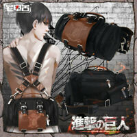 Attack on Titan Jiyuu no Tsubasa Levi Rucksack Crossbody Handtasche Canvas Satch