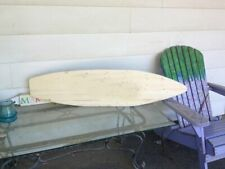 4 foot wood surfboard wall art unfinished