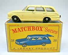 """Matchbox RW 38B Vauxhall Victor gelb grüne Einrichtung in """"D"""" Box"""