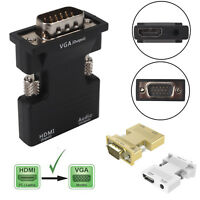 HDMI Female To VGA Male Converter Adapter 1080P Stereo Audio Output USB Power PC