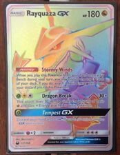 Pokemon Card  RAYQUAZA GX Secret Rare FULL ART 177/168 CELESTIAL STORM **MINT**