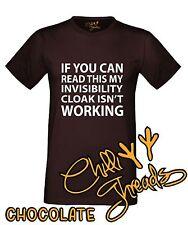 INVISIBILITY CLOAK Funny Wizard Magic Joke T-shirt Vest Tshirt