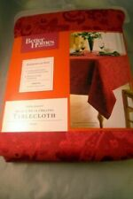 Better Homes and Gardens Paisley Jacquard 60 X 84 Oblong Tablecloth Red
