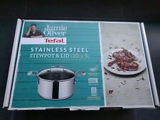 NEW JAMIE OLIVER TEFAL NEW WAVE S/STEEL STEWPOT WITH LID 20CM KITCHEN