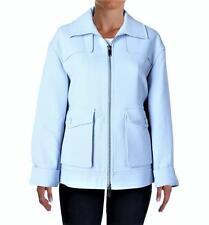 DKNY COUTURE $529 Pale Blue Ponte Solid Blazer Coat Jacket Outerwear SZ L NWT