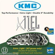 Catena KMC bici silver road bike 11 velocità leggera extra light chain X11EL