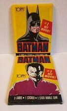 1989 TOPPS BATMAN Trading Cards - 2 x Unopened Packs - JOKER BATMAN