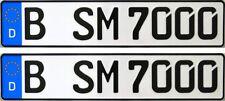 2 Stück EU Kfz-Nummernschilder | Kennzeichen | Autoschilder | Autokennzeichen
