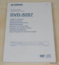 Yamaha DVD-S557 Bedienungsanleitung (mehrsprachig, auch in Deutsch)