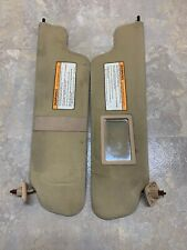 1997-1999 Ford F-150 Driver And Passenger Sun Visor Set Cloth OEM Tan