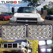 2P 4x6 LED Headlights Bulb Sealed Beam Freightliner Kenworth T400 T600 Peterbilt