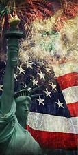Statue of Liberty America Fireworks Cornhole Bean Bag Toss 3M Vinyl Wrap Set