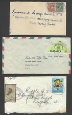 Jamaica covers with TRD violet oval cancellations (9)