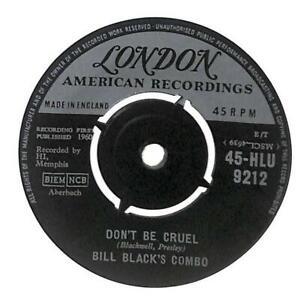 "Bill Black's Combo Don't Be Cruel UK 7"" Vinyl Record 1960 45-HLU9212 London VG"