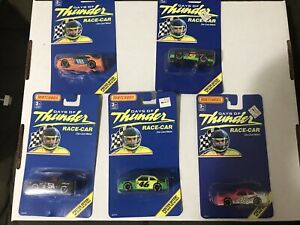 VINTAGE  LOT OF 5 MATCHBOX DAYS OF THUNDER DIE CAST METAL RACE CARS 1990'S