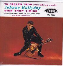 CD 4  titres JOHNNY HALLYDAY tu parles trop (vogue) Format 13,5 x 13,5 cm