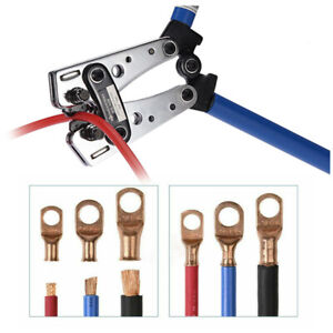 Crimper ,Battery Wire Terminal Cable Crimping Tool Lug Ratchet Electrician Plier
