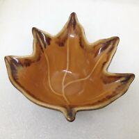 Bella Casa by Ganz Small Maple Leaf Nut Bowl - Candy Dish Drip Glaze Pottery